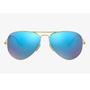 RAY-BAN Aviator Flash Lens in Gold/Blue